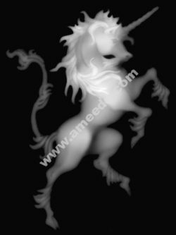 Unicorn Grayscale vector image BMP