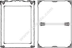 Vintage scroll vector borders