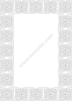 Celtic knot border vector