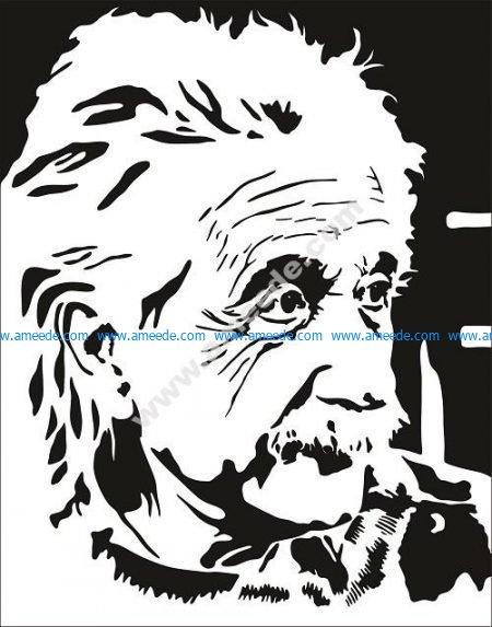 Albert Einstein Vector Pattern