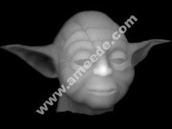Alien CNC Grayscale Image BMP