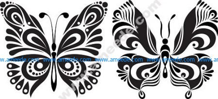 Black White Butterflies Of Tattoo