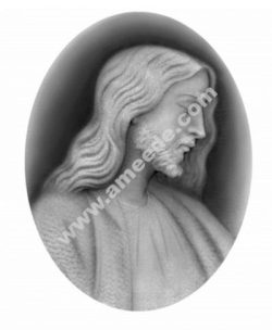 Christ 3D Relief Grayscale Image BMP