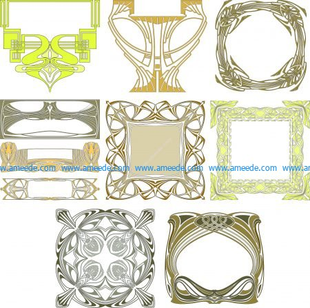 Collection of Decorative Frame designs