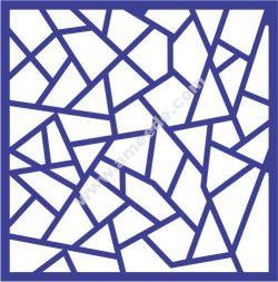 Cross-cut window pattern