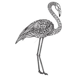 Flamingo Zentangle Stylized