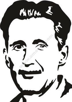 George Orwell Vector Pattern