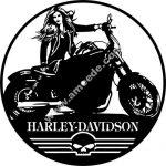 Harley-Davidson wall clock