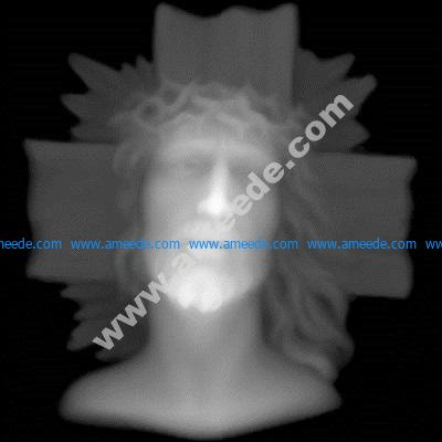 Jesus Grayscale Image BMP