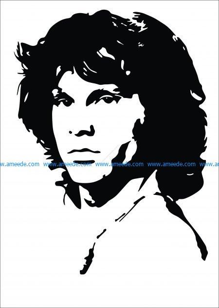 Jim Morrison Vector Pattern