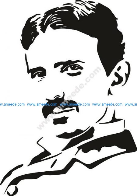 Nikola Tesla Vector Pattern