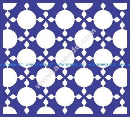 Round ball dot window pattern