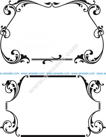 Scroll line borders
