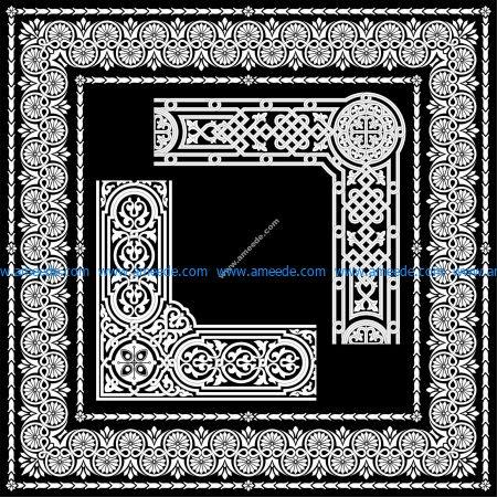 Sgraffito border designs
