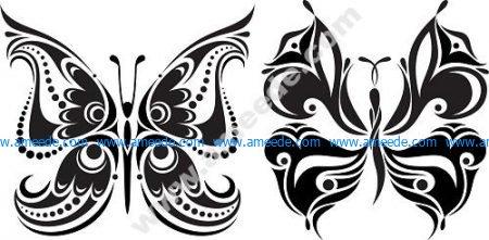 Tattoo Butterflies Free Vector