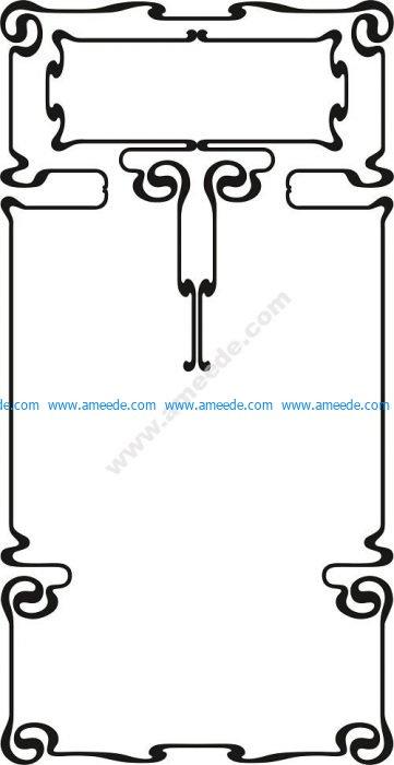 The stylus border vector