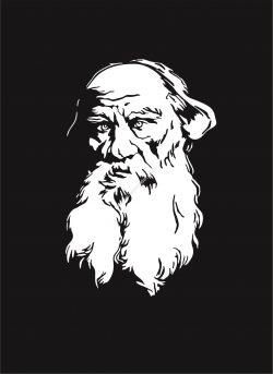 Vectorized engraving of Leo Tolsto