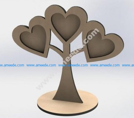 photo frame of heart tree