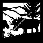 picture of horned deer