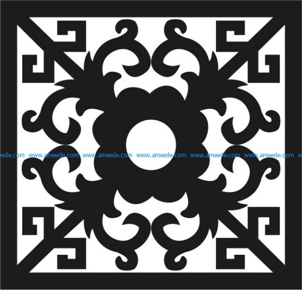 vector cnc and laser window pattern