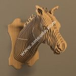 wooden horse head assembly model