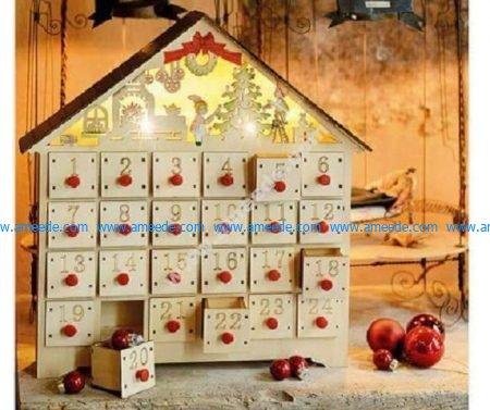 Advent Calendar Wood House