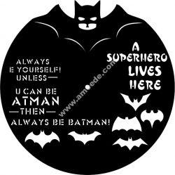 Batman Vinyl Clock Template
