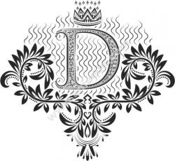 Beautiful Ornament Letters D