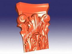 Carved support leg 3D (stl format)