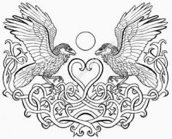 Celtic eagles heart