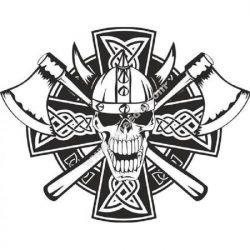 Celtic skeleton skull Viking