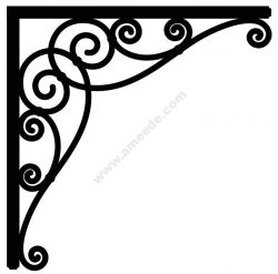 Corner design Vector corel file 13