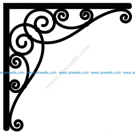 Corner design Vector corel file 13 – Amee House