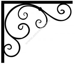 Corner design Vector corel file 14