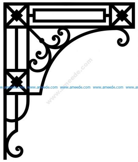 Corner Design Vector Corel File 3 Amee House