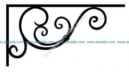 Corner design Vector corel file 6 | Graphic Design Vector