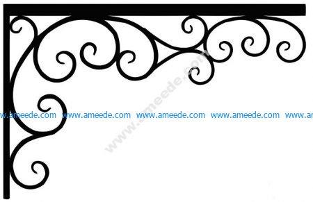 Corner design Vector corel file 9 – Amee House