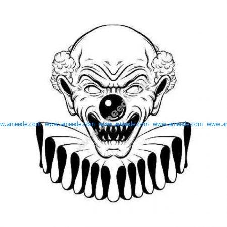 Creepy scary evil clown