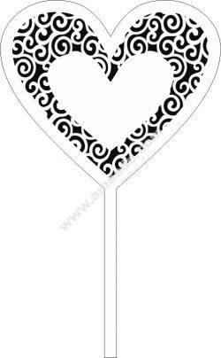 Decor Heart Topper Laser Cut