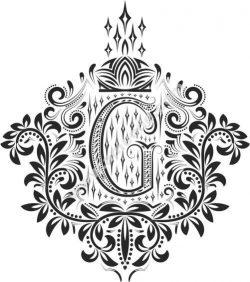 Decorative Letter Set G