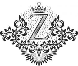 Decorative Letter Set Z