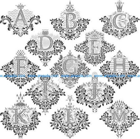 Decorative Letters Vector Set