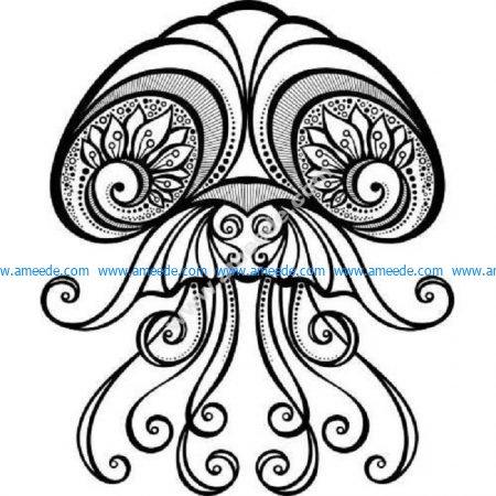 Detailed zen jellyfish
