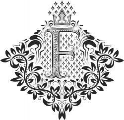Doodles Font Ornamental Floral Letters F