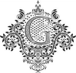 Doodles Font Ornamental Floral Letters G