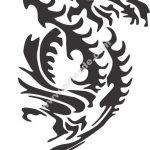 Dragon symbol on clouds