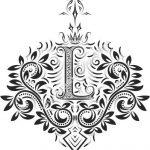 Fancy Floral Letters L