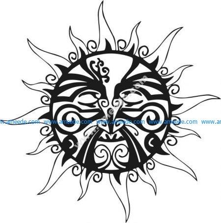 Figure face of the sun
