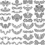 Floral Flourish Vector Set