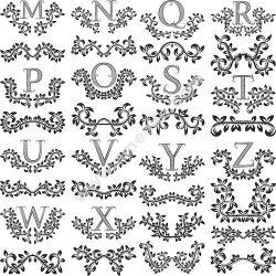 Floral Letters Vector Art
